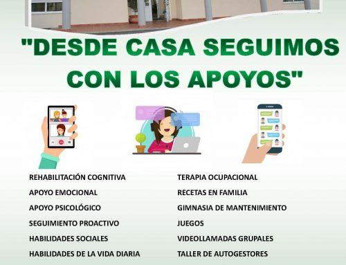 DESDE CASA SEGUIMOS PRESTANDO LOS APOYOS
